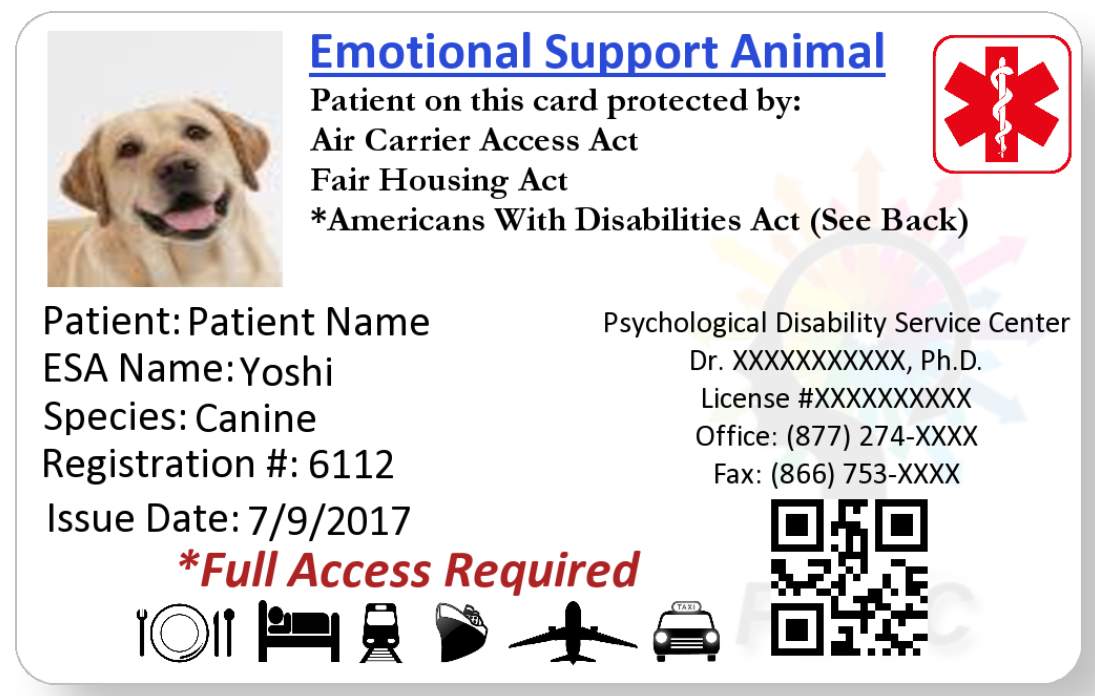 service animal travel achieved service animal letter - pdsc